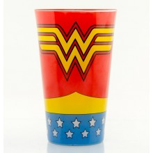 Wonder Woman Stort Farvet Glas