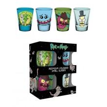 Rick And Morty Premium Shotglas 4-pak
