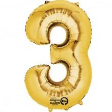 Nummer Ballon Guld 3
