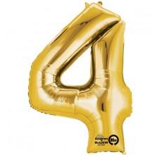 Nummer Ballon Guld 4