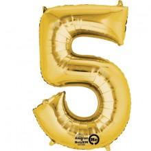 Nummer Ballon Guld 5