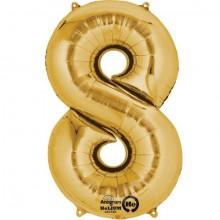 Nummer Ballon Guld 8