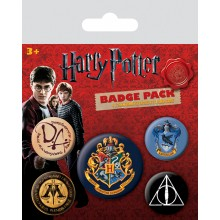 Harry Potter Badges 5-pak Hogwarts