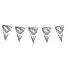 Guirlande Stor Sølv Vimpel 10 m
