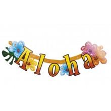 Bogstavbanner Aloha 83 cm