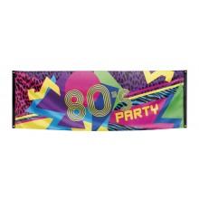 Banner 80'er 74x220 cm