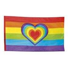 Prideflag Hjerte 90x150 cm