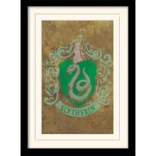 Harry Potter Indrammet Poster Slytherin Crest