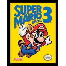 SUPER MARIO BROS. 3 (NES COVER) INDRAMMET PLAKAT