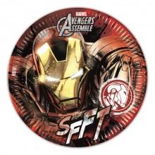 Iron Man Paptallerkener 8-pak