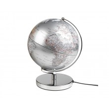 Globus Lampe Sølv