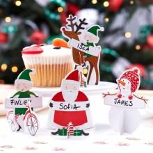 Juldekoration Namnhållare 10-pack