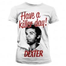 DEXTER - HAVE A KILLER DAY! PIGE T-SHIRT (HVID)