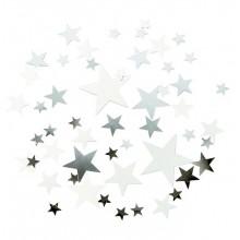 Konfettistjerner Elegant Sølv