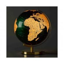 Jordklode Lampe Grøn & Messing