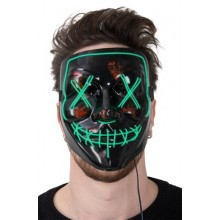 LED Mask Horror Grön