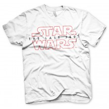 Star Wars The Last Jedi Logo Hvid T-shirt