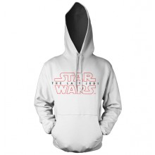 Star Wars The Last Jedi Logo Hvid Hoodie