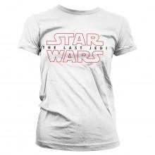 Star Wars The Last Jedi Logo Hvid Dame T-shirt