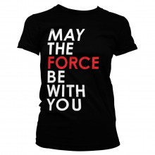 Star Wars The Last Jedi May The Force Dame T-shirt