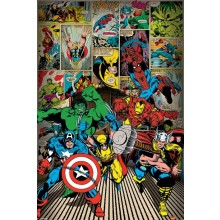 MARVEL COMICS (HERE COME THE HEROES) POSTER