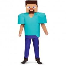 Minecraft Steve Børnekostume Deluxe
