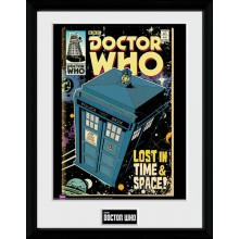 Doctor Who Indrammet Poster TARDIS
