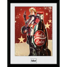 Fallout Nuka Cola Indrammet Poster