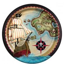 Tallerken Pirat 8-Pak