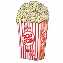Blødt Tæppe Popcorn