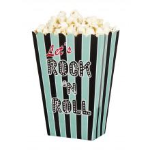 Popcornskål Rock 50'erne 4-pak