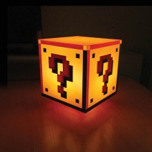 Super Mario Question Block Lampe