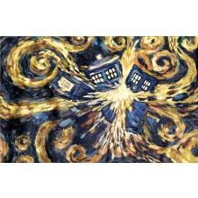 Dr Who Exploding Tardis LÆRred 60 X 80 Cm