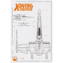 Star Wars Episode Vii X-Wing Plakat