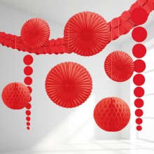 Dekoration Röd Ki