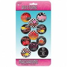 Rock 50'erne Badges 10-pak