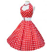 Rockabillyklänning Polka Röd