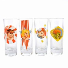 Street Fighter Shotglas 4-pak
