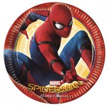Spiderman Homecoming Paptallerkener 8-pak