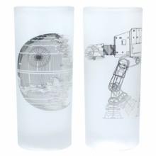 Star Wars Glas 2-pak Death Star & AT-AT