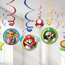 DekorationssÆT Super Mario 12-Pak