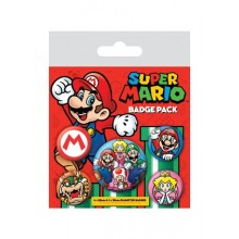 Super Mario Badges 5 Stk.