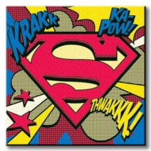 Ip - Superman (Pop Art Shield) 40 X 40
