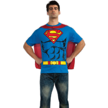 SUPERMAN T-SHIRT KOSTUME