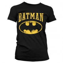 VINTAGE BATMAN PIGE T-SHIRT (SORT)
