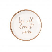 Tallerkener We All Love Cake 12-pakke