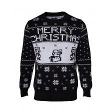 Juletrøje Nintendo Super Mario Christmas Sort