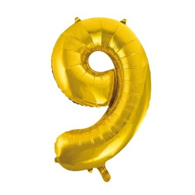 Jumbo Sifferballong 86 cm Guld 9