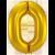 Jumbo Nummerballon Guld 0